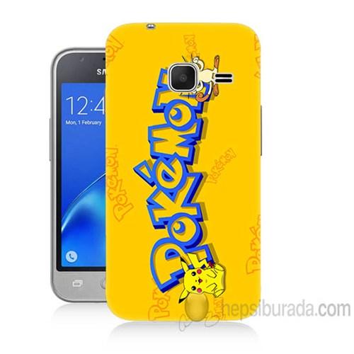 Teknomeg Samsung Galaxy J1 Kapak Kılıf Pokemon Baskılı Silikon