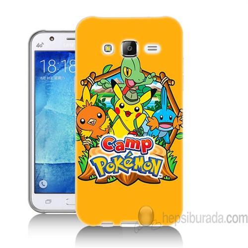 Teknomeg Samsung Galaxy J5 Kapak Kılıf Pokemon Camp Baskılı Silikon