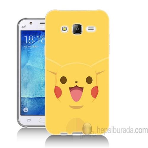 Teknomeg Samsung Galaxy J7 Kapak Kılıf Pokemon Pikachu Baskılı Silikon