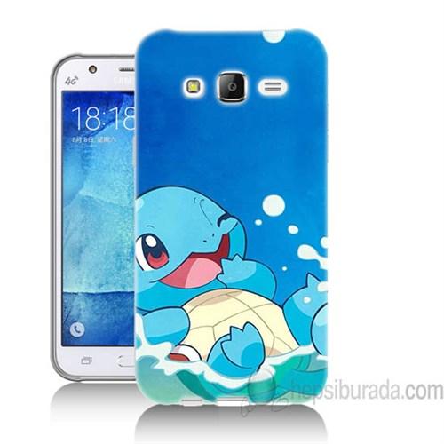 Teknomeg Samsung Galaxy J7 Kapak Kılıf Pokemon Squirtle Baskılı Silikon