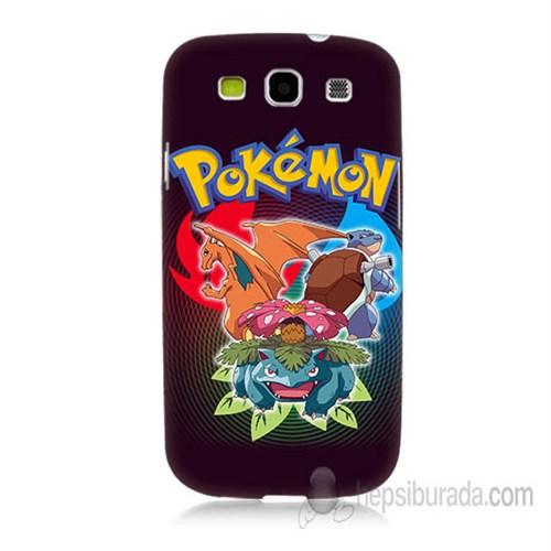 Teknomeg Samsung Galaxy S3 Kapak Kılıf Pokemon Baskılı Silikon