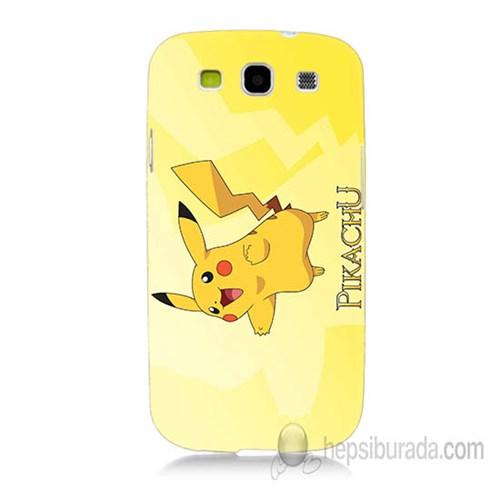 Teknomeg Samsung Galaxy S3 Kapak Kılıf Pokemon Pikachu Baskılı Silikon