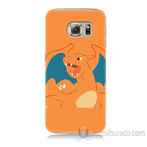 Teknomeg Samsung Galaxy S6 Kapak Kılıf Pokemon Charmander Baskılı Silikon
