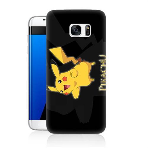 Teknomeg Samsung Galaxy S7 Kapak Kılıf Pokemon Pikachu Baskılı Silikon