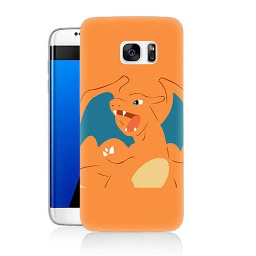Teknomeg Samsung Galaxy S7 Kapak Kılıf Pokemon Charmander Baskılı Silikon