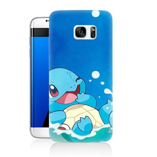 Teknomeg Samsung Galaxy S7 Kapak Kılıf Pokemon Squirtle Baskılı Silikon