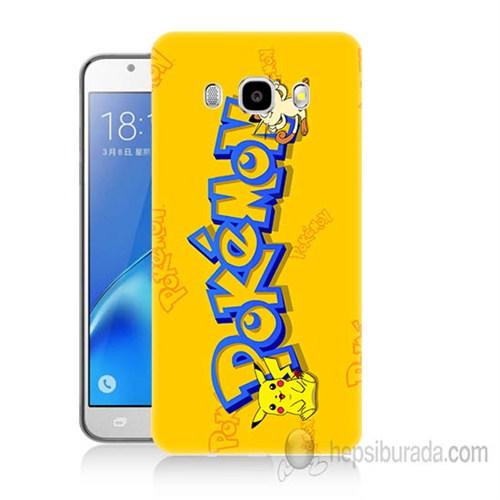 Teknomeg Samsung Galaxy J7 2016 Kapak Kılıf Pokemon Baskılı Silikon