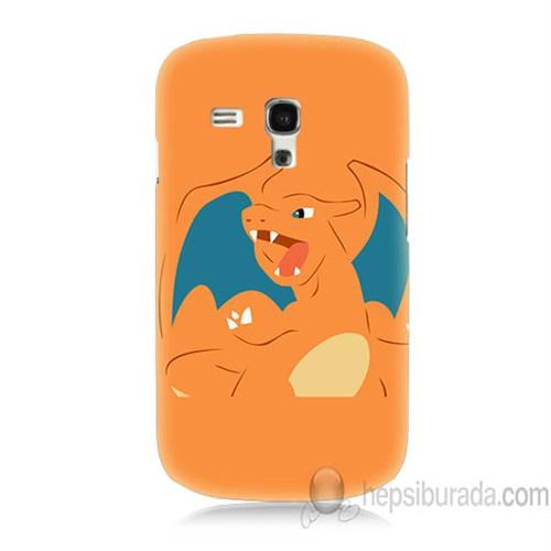 Teknomeg Samsung Galaxy S3 Mini Kapak Kılıf Pokemon Charmander Baskılı Silikon