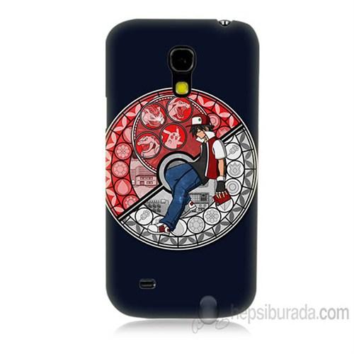 Teknomeg Samsung Galaxy S4 Mini Kapak Kılıf Pokemon Ash Baskılı Silikon