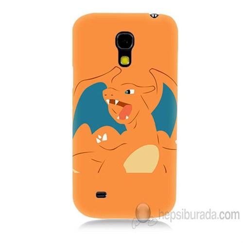 Teknomeg Samsung Galaxy S4 Mini Kapak Kılıf Pokemon Charmander Baskılı Silikon