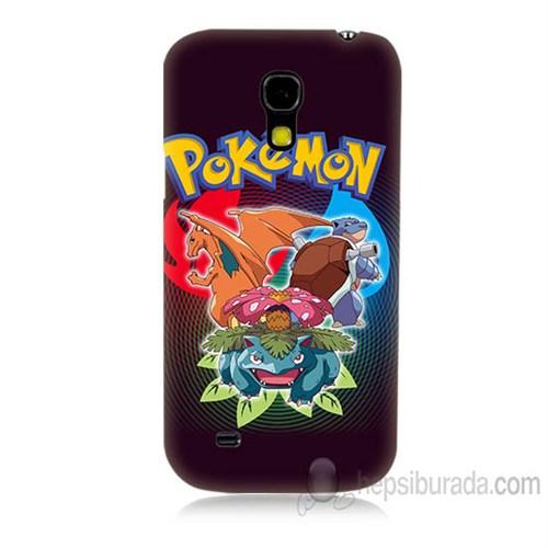 Teknomeg Samsung Galaxy S4 Mini Kapak Kılıf Pokemon Baskılı Silikon