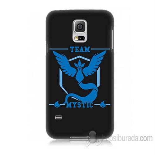 Teknomeg Samsung Galaxy S5 Mini Kapak Kılıf Pokemon Team Mystic Baskılı Silikon