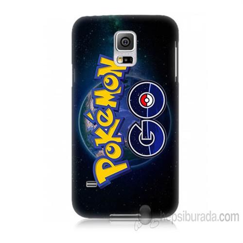 Teknomeg Samsung Galaxy S5 Mini Kapak Kılıf Pokemon Go Baskılı Silikon