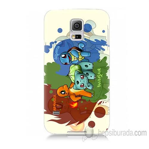 Teknomeg Samsung Galaxy S5 Mini Kapak Kılıf Pokemon Baskılı Silikon