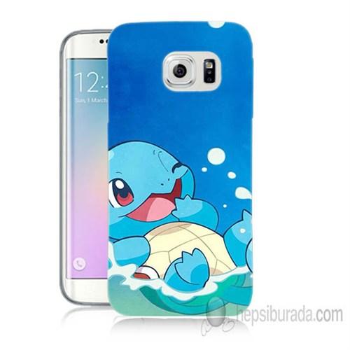 Teknomeg Samsung Galaxy S6 Edge Kapak Kılıf Pokemon Squirtle Baskılı Silikon