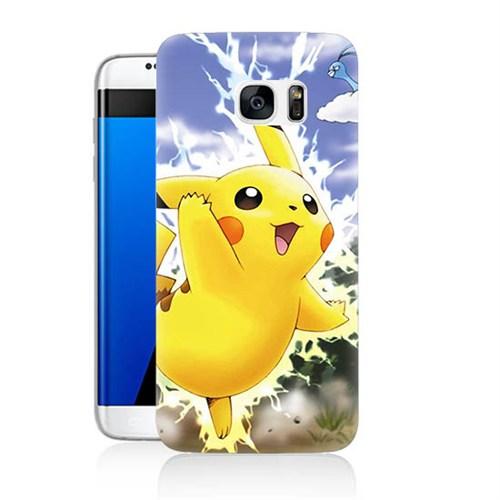 Teknomeg Samsung Galaxy S7 Edge Kapak Kılıf Pokemon Pikachu Baskılı Silikon
