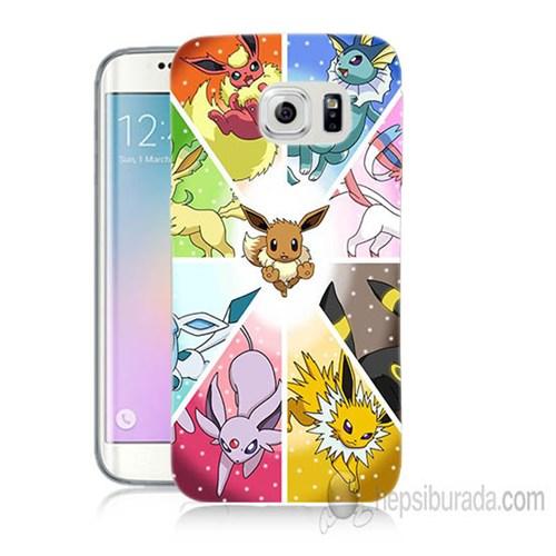 Teknomeg Samsung Galaxy S6 Edge Plus Kapak Kılıf Pokemon Baskılı Silikon