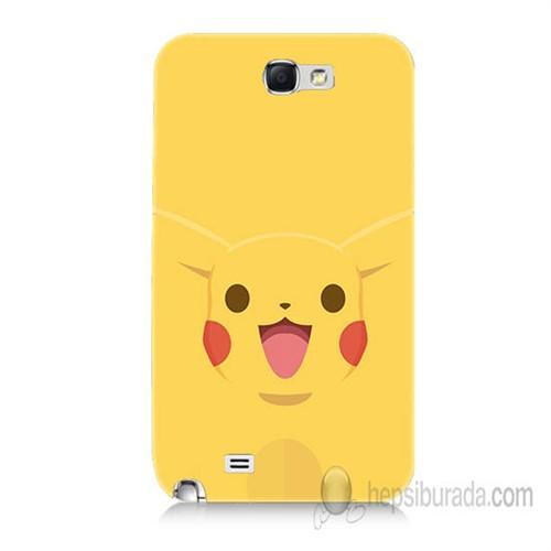 Teknomeg Samsung Galaxy Note 2 Kapak Kılıf Pokemon Pikachu Baskılı Silikon