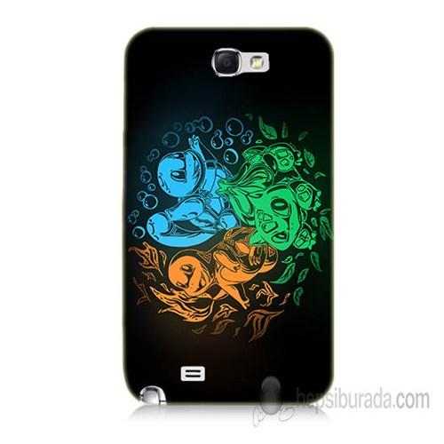 Teknomeg Samsung Galaxy Note 2 Kapak Kılıf Pokemon Baskılı Silikon