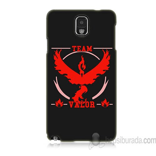 Teknomeg Samsung Galaxy Note 3 Kapak Kılıf Pokemon Team Valor Baskılı Silikon