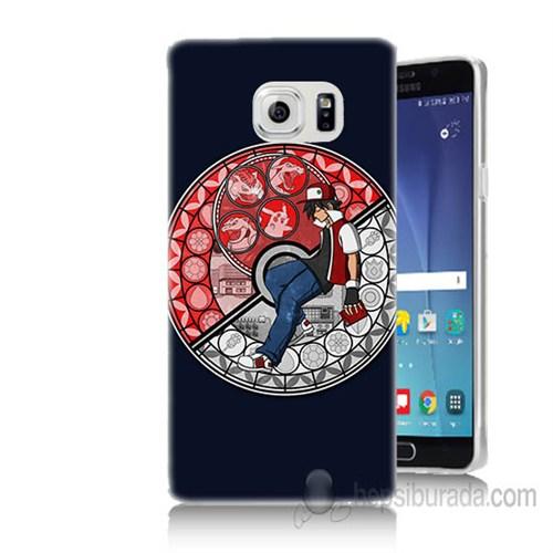 Teknomeg Samsung Galaxy Note 5 Kapak Kılıf Pokemon Ash Baskılı Silikon