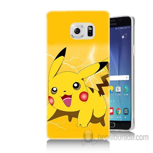 Teknomeg Samsung Galaxy Note 5 Kapak Kılıf Pokemon Pikachu Baskılı Silikon