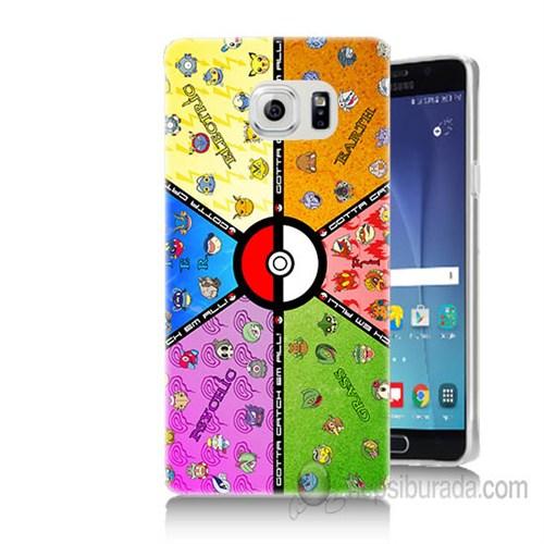 Teknomeg Samsung Galaxy Note 5 Kapak Kılıf Pokemon Baskılı Silikon