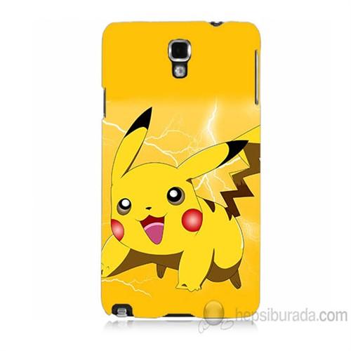 Teknomeg Samsung Galaxy Note 3 Neo Kapak Kılıf Pokemon Pikachu Baskılı Silikon