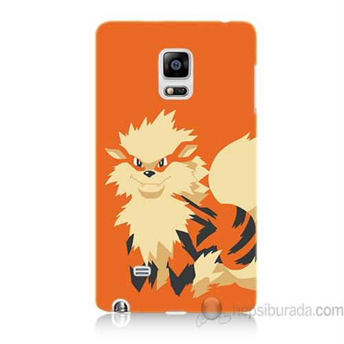 Teknomeg Samsung Galaxy Note Edge Kapak Kılıf Pokemon Arcanine Baskılı Silikon