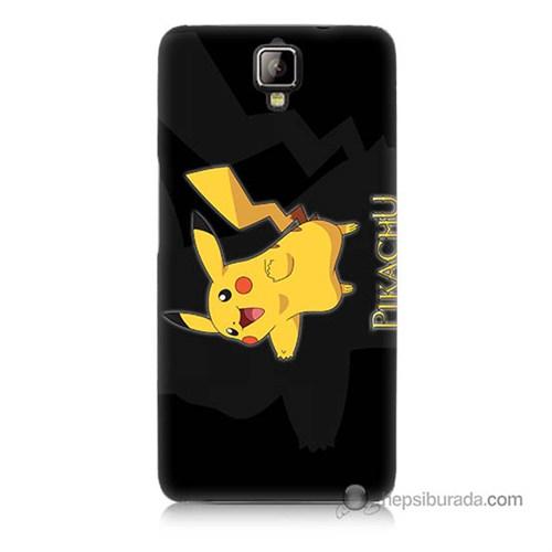 Teknomeg General Mobile Discovery 2 Kapak Kılıf Pokemon Pikachu Baskılı Silikon