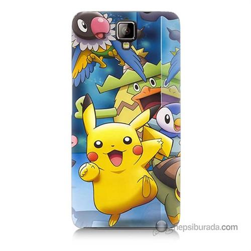Teknomeg General Mobile Discovery 2 Plus Kapak Kılıf Pokemon Pikachu Baskılı Silikon