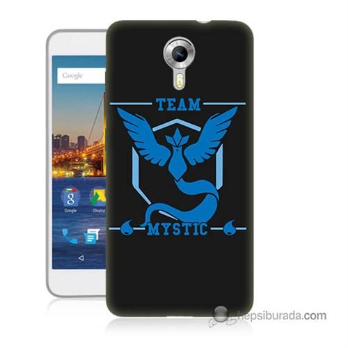 Teknomeg General Mobile Discovery 4G Andorid One Kapak Kılıf Pokemon Team Mystic Baskılı Silikon