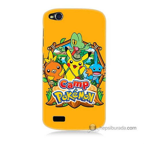 Teknomeg General Mobile Discovery Kapak Kılıf Pokemon Camp Baskılı Silikon