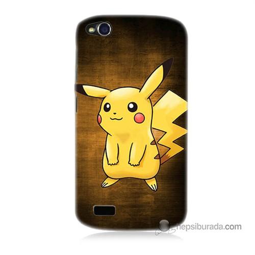 Teknomeg General Mobile Discovery Kapak Kılıf Pokemon Pikachu Baskılı Silikon
