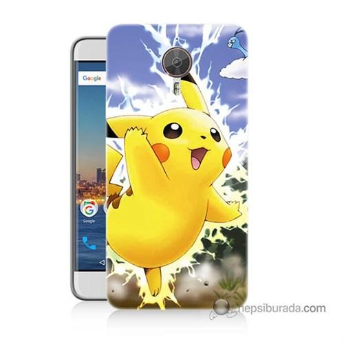 Teknomeg General Mobile Discovery Gm5 Plus Kapak Kılıf Pokemon Pikachu Baskılı Silikon