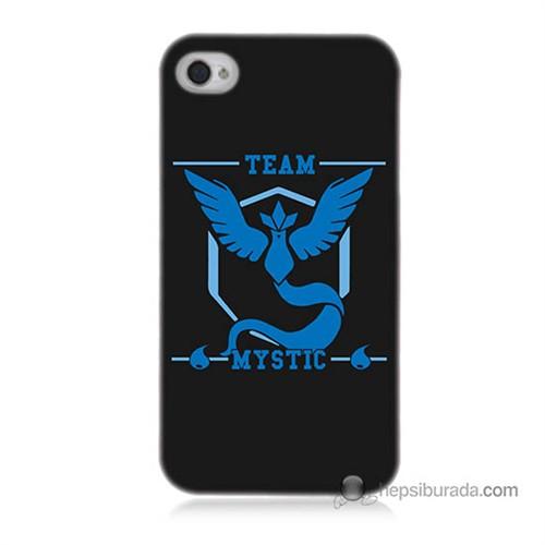 Teknomeg İphone 4 Kapak Kılıf Pokemon Team Mystic Baskılı Silikon