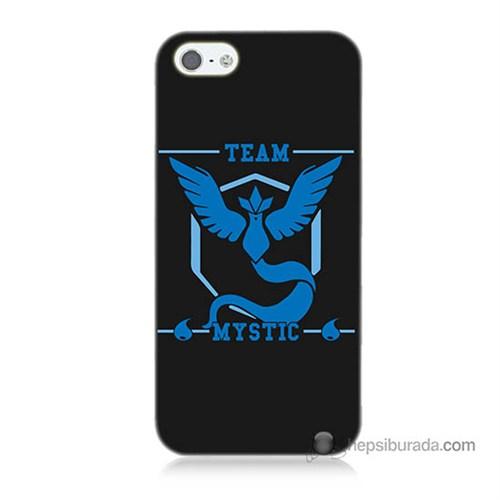 Teknomeg İphone 5 Kapak Kılıf Pokemon Team Mystic Baskılı Silikon