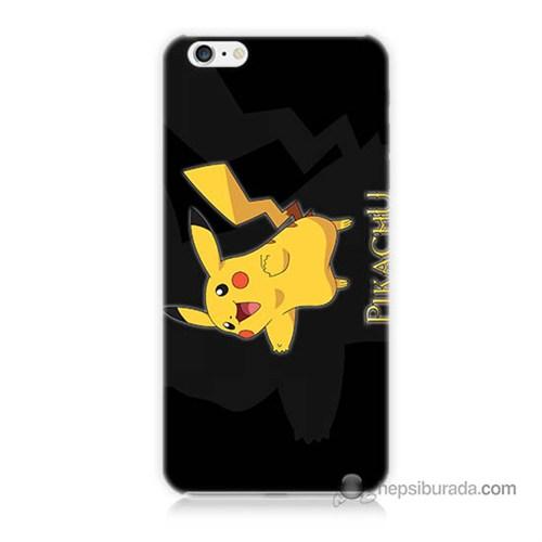 Teknomeg İphone 6S Kapak Kılıf Pokemon Pikachu Baskılı Silikon