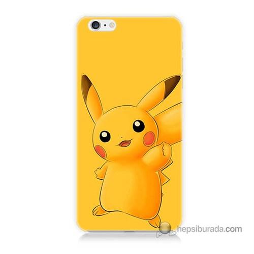 Teknomeg İphone 6S Plus Kapak Kılıf Pokemon Pikachu Baskılı Silikon