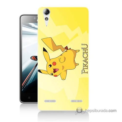 Teknomeg Lenovo A6010 Kapak Kılıf Pokemon Pikachu Baskılı Silikon