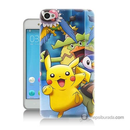 Teknomeg Lenovo Vibe S60 Kapak Kılıf Pokemon Pikachu Baskılı Silikon
