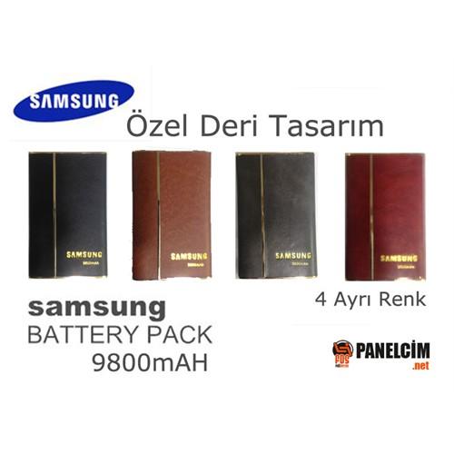 Panelcim 9800 mAh Özel Deri Powerbank Mobil Şarj Cihazı