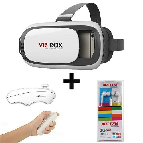 Vr-Box 3.1 ( Netpa Mikrofonlu Kulaklık Ve Bluetooth Kumanda Hediyelidir )