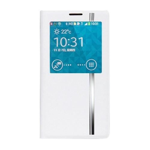 Joyroom Samsung N9000 Galaxy Note 3 Regress Uyku Modlu Beyaz Deri Kılıf