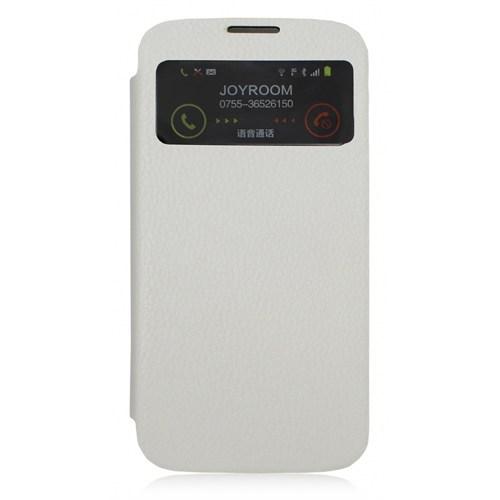 Joyroom Samsung İ9500 Galaxy S4 Uyku Modlu Pencereli Beyaz Kılıf