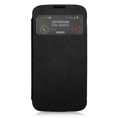 Joyroom Samsung İ9500 Galaxy S4 Uyku Modlu Pencereli Siyah Kılıf