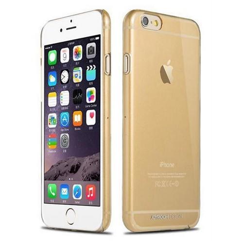 Joyroom Crystal Clear iPhone 6 Plus-6S Plus Ultra İnce Şeffaf Gold Rubber Kılıf