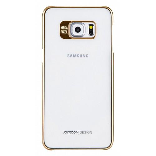 Joyroom Samsung Galaxy S6 Edge Plus Metalik Gold Kenarlı Kristal Kılıf