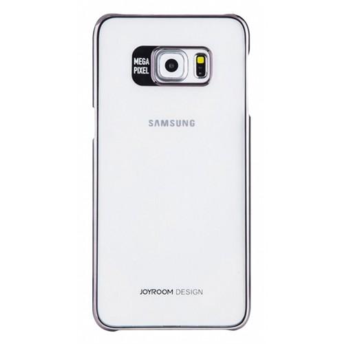 Joyroom Samsung Galaxy S6 Edge Plus Metalik Silver Kenarlı Kristal Kılıf