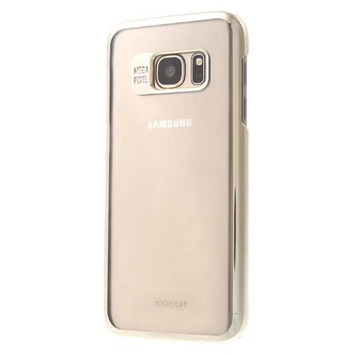 Joyroom Samsung Galaxy S7 Metalik Gold Kenarlı Kristal Kılıf